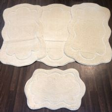 ROMANY WASHABLE TRAVELLERS MATS SETS OF 4 NON SLIP TOURER SIZE THICK CREAM/IVOR